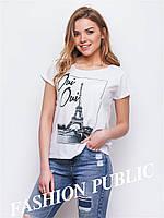 Женская летняя блуза с коротким рукавом