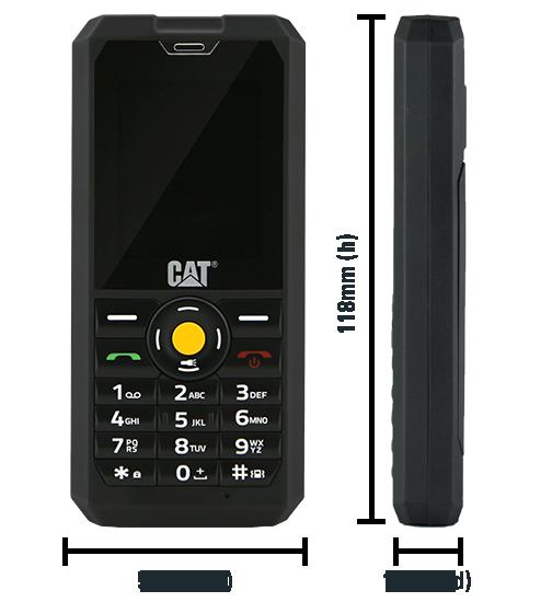 CAT B30 Dual Sim Black