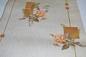 Обои на стену, цветы, бежевый, дуплексные,  Ирида 6373-02, 0,53*10м, фото 2