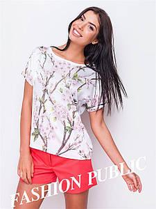 Женская летняя блуза с принтом