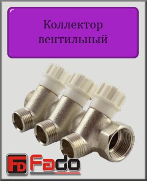 """Коллектор вентильный Fado 1""""х1/2"""" на 5 выходов"""