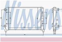 Радиатор охлаждения Fiat Doblo  1.9D POLCAR