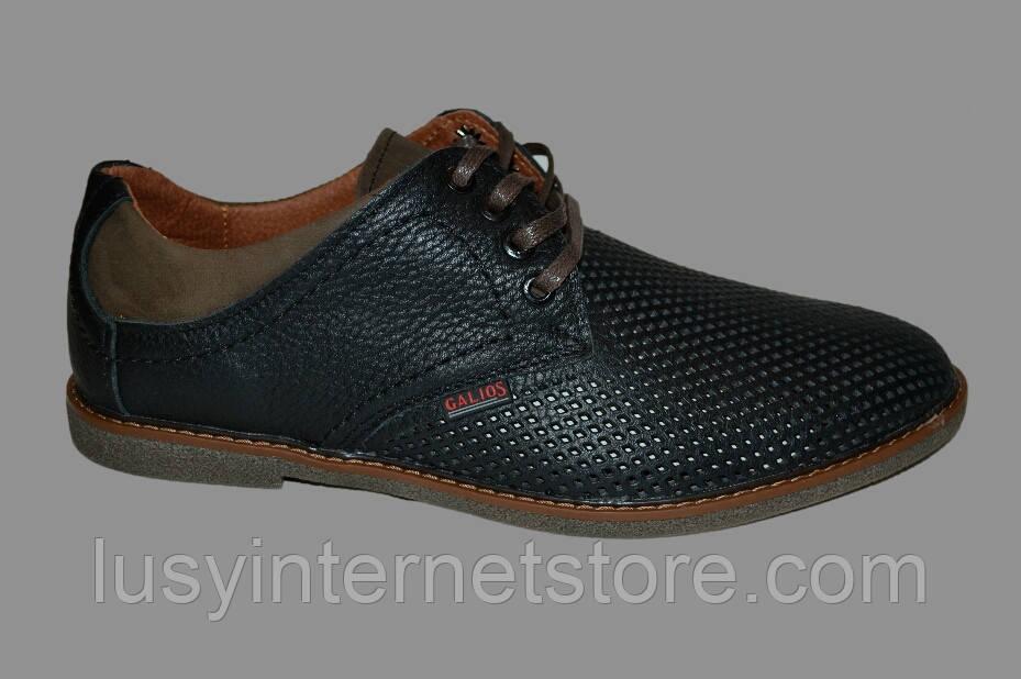 ботинки мужские летние кожаные