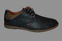 Мужские кожаные туфли летние на шнурках перфорация, летние туфли мужские от производителя модель Г150Л
