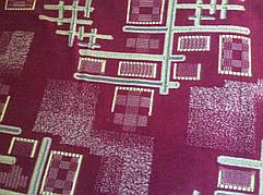 Бордовый комплект двуспальных покрывал гобеленовых на кровать и два кресла