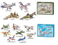 Пазлы 3D B368-19/21 (40шт) воздушный транспорт,12 видов,в кор. 22*2*29.5см B368-19/21