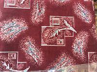 """""""Красный листик"""" гобеленовое покрывало на кровать 145х200"""
