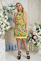 Платье  Сильва   принт желтый