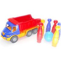 Дитячий набір: машина, шість кегль, куля 1821
