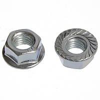 Гайка шестигранна зубчата з буртиком M3, DIN 6923, нержавіюча сталь А2, M3
