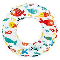 Детский надувной круг для плаванья 6-10 лет Intex 61 см (59241)