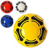Мяч футбольный EV 3209 (30шт) размер 5, ПВХ 1,8мм, 32панели, 350-370г, 4 цвета