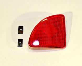 Відбивач в задньому бампері (R, правий) на Renault Kangoo 2003->2008 — Polcar (Польща) - O 6060886E