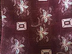 Комплект гобеленовых бордовых покрывал полуторных на кровать и кресла