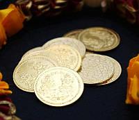 "Монета алтарная ""Ганеш и Лакшми"" жёлтый металл (3 см)"