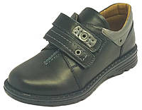 Школьные туфли на мальчика 32-38 черные натуральная кожа