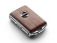 Корпус для ключа ДУ, дерево Linear Walnut | Volvo XC90 Новый Оригинальный