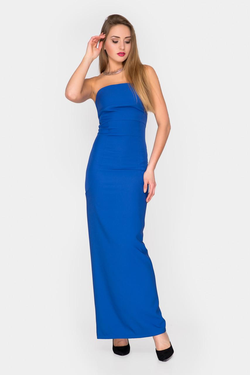 b457dd1fe84 Вечернее платье с открытыми плечами синее  продажа