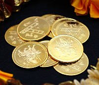 "Монета алтарная ""Дурга"" жёлтый металл (3 см)"