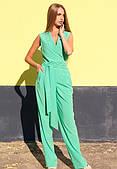 Нарядный женский комбинезон из приятной летней ткани
