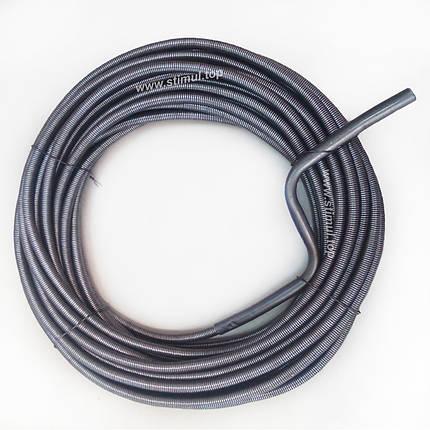 Трос сантехнический, крот канализационный 10 мм х 15 м (трос каналізаційний сантехнічний), фото 2