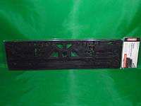 Рамка номерного знака Carlife чистая черная