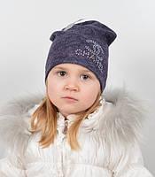 Одинарная шапочка для девочки