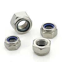 Гайка з пластиковим кільцем (контргайка), DIN 985, нержавіюча сталь А2, M6