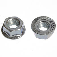 Гайка шестигранна зубчата з буртиком, DIN 6923, нержавіюча сталь А2, M12