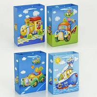"""Подарочный пакет 3D 01456 """"Транспорт"""" (720) 4 вида, 18*24*8 см 01456"""