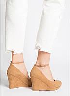 Женские туфли на высокой платформе 10 см