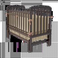 Детская кроватка Teddy с поперечным маятником из массива бука (без ящика/с ящиком) ТМ WoodMan Шоколадный