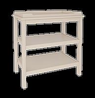 Пеленальный столик из натурального дерева - массива бука (размер пеленатора 70/50 см) ТМ WoodMan Слоновая кость