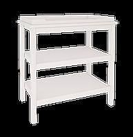 Функциональный и компактный пеленальный столик из массива бука (размер пеленатора 70/50 см) ТМ WoodMan Белоснежный