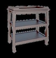 Функциональный и удобный пеленальный столик из массива бука (размер пеленатора 70/50 см) ТМ WoodMan Шоколадный