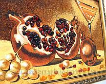 """Картина """"Гранат с бокалом"""", красивый натюрморт из янтаря, фото 2"""