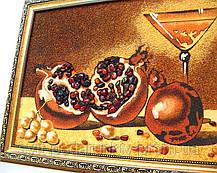 """Картина """"Гранат с бокалом"""", красивый натюрморт из янтаря, фото 3"""
