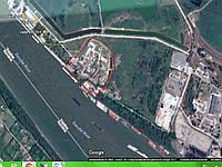 Рыбный завод на берегу реки Дунай