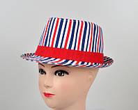 Полосатпая формованная шляпа