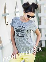 Женская молодежная футболка с надписями