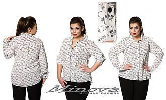 Блузка в больших размерах (0030-342)