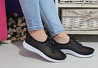 Женские черные кроссовки, сетка, очень легкие / кроссовки женские с сеткой, удобные, хит лета 2017
