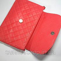 Клатч стеганний червоний, фото 2