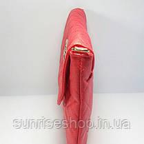 Клатч стеганний червоний, фото 3