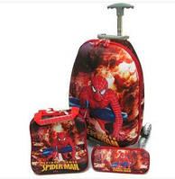Набор Чемодан на 6 колесах+сумка+пенал Spiderman