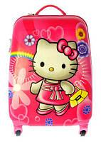 Чемодан дорожный на 4-х колесах Hello Kitty