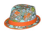 Формованная шляпа в модный принт