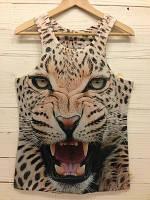 Майка с леопардом