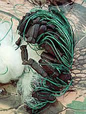 Сеть рыболовная одностенная 100м х 1,8м., груз капелька, для промышленного лова, фото 3