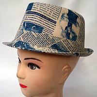 Летняя формованная шляпа с надписями